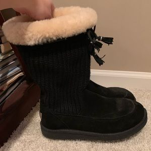 NWOT UGG Black Sweater Boots